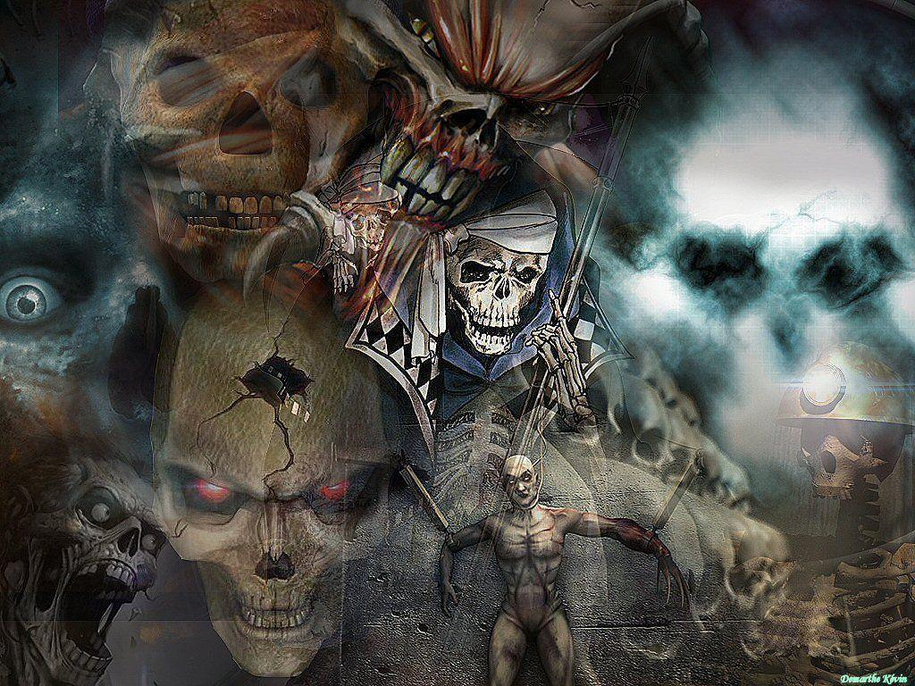Squelettes et tetes de morts page 7 for Decoration qui fait peur